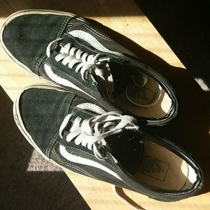 Vans Black Sneaker with White Accent